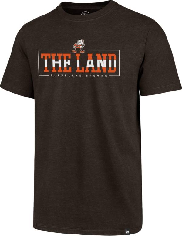 '47 Men's Cleveland Browns The Land Club Brown T-Shirt product image