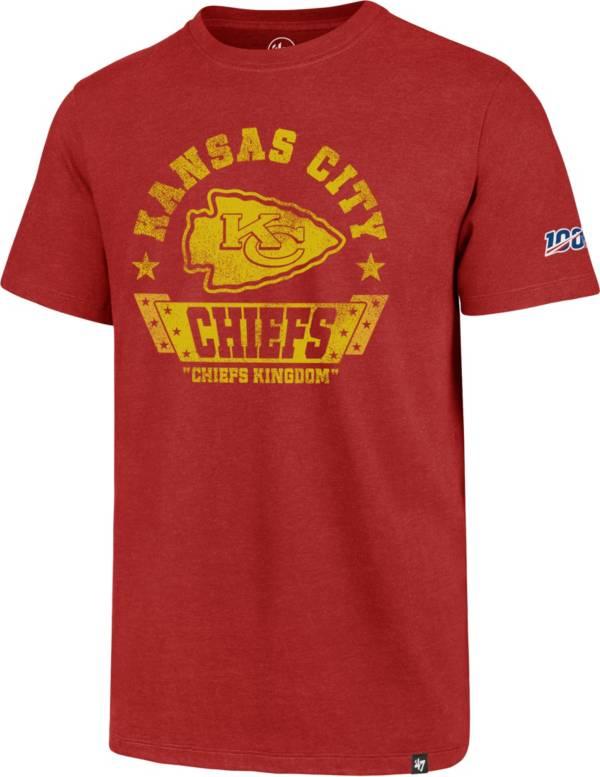 '47 Men's Kansas City Chiefs 100th Club Red T-Shirt product image