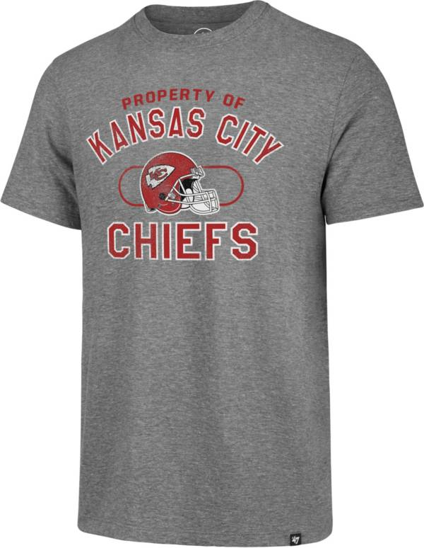 '47 Men's Kansas City Chiefs Match Grey T-Shirt product image
