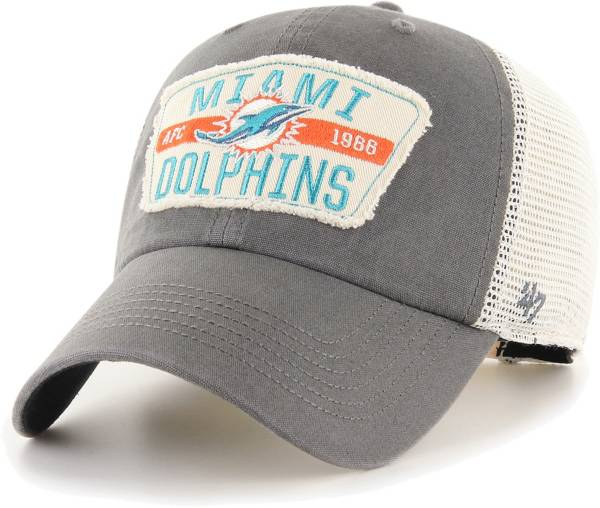 '47 Men's Miami Dolphins Crawford Clean Up Adjustable Grey Hat product image
