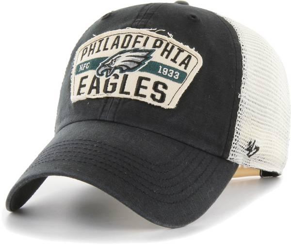 '47 Men's Philadelphia Eagles Crawford Clean Up Adjustable Black Hat product image