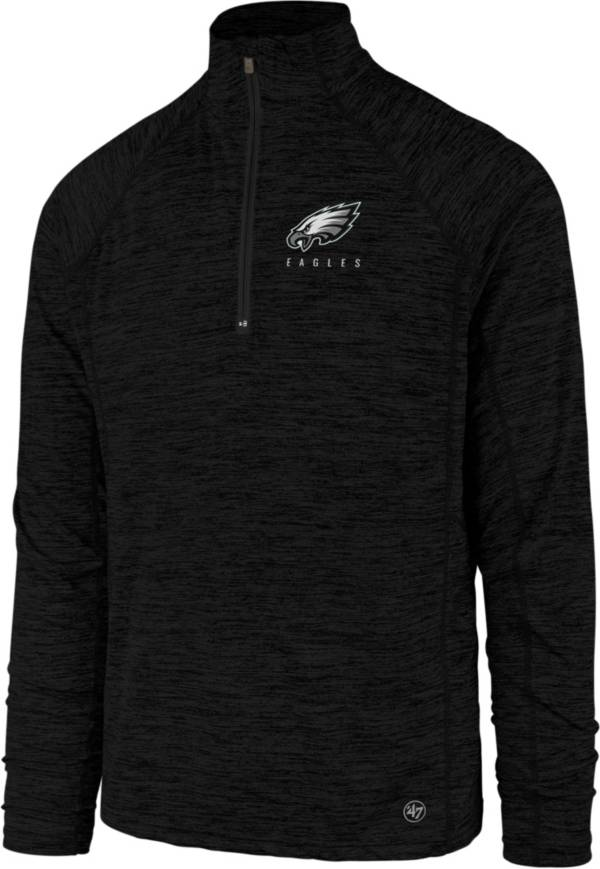 '47 Men's Philadelphia Eagles Impact Black Quarter-Zip Pullover product image