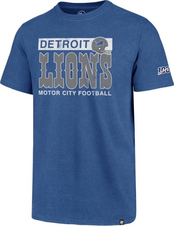 '47 Men's Detroit Lions 100th Club Legacy Blue T-Shirt product image