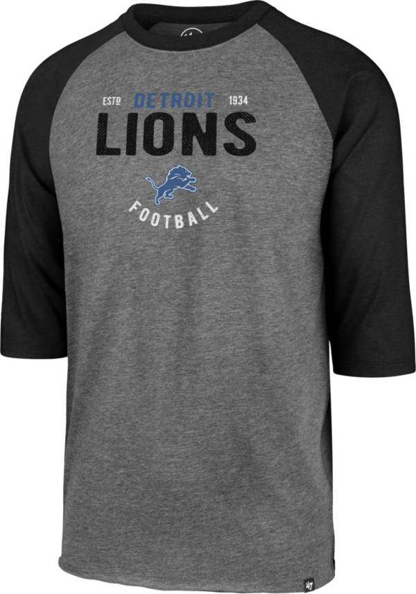'47 Men's Detroit Lions Club Grey Raglan Shirt product image