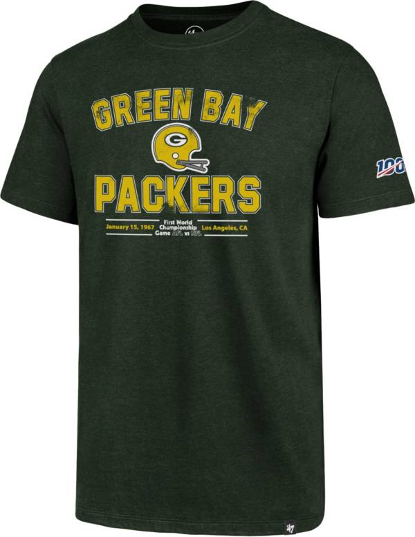 '47 Men's Green Bay Packers 100th Club Throwback Green T-Shirt product image