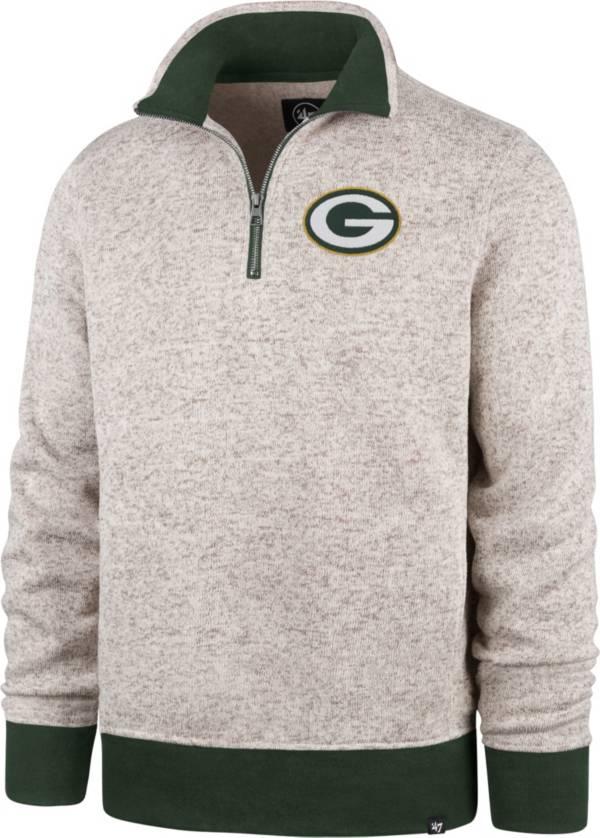 '47 Men's Green Bay Packers Oatmeal Kodiak Quarter-Zip product image
