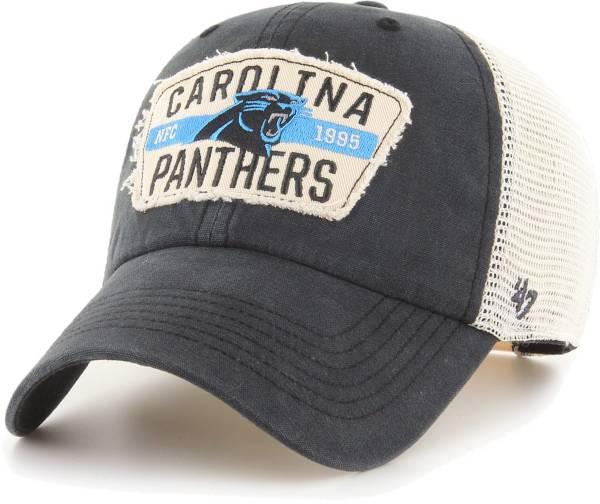 '47 Men's Carolina Panthers Crawford Clean Up Adjustable Black Hat product image