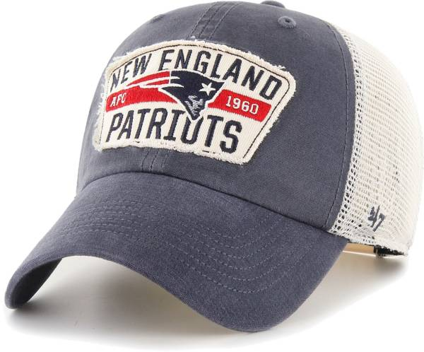 '47 Men's New England Patriots Crawford Clean Up Adjustable Navy Hat product image