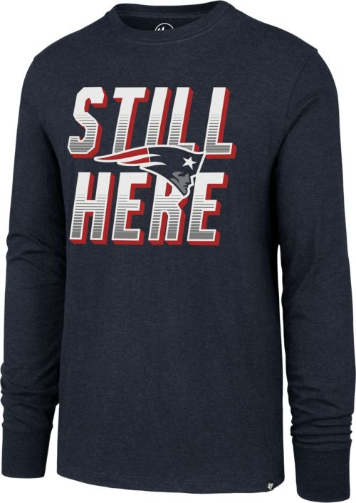 6aa17c679b6 ... New England Patriots Still Here Navy Long Sleeve Shirt. noImageFound.  Previous