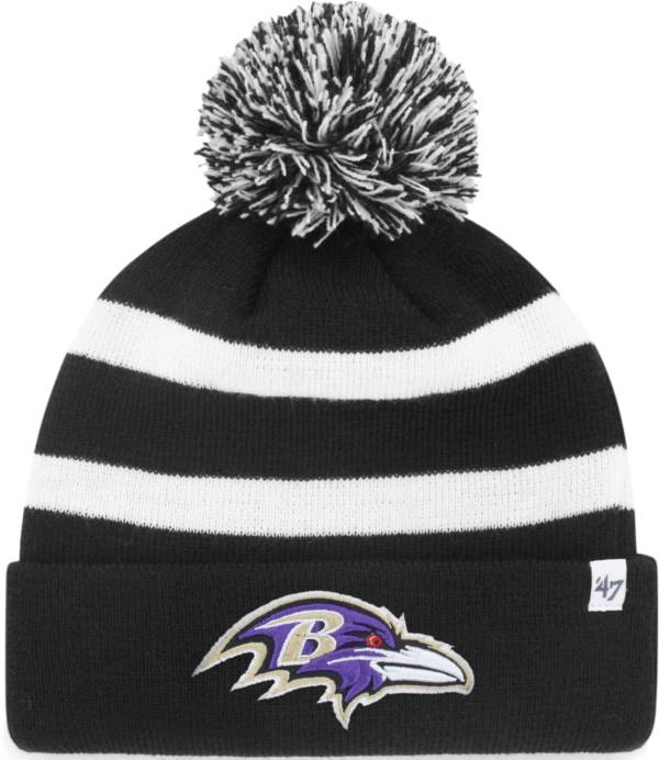 '47 Men's Baltimore Ravens Breakaway Black Cuffed Knit Hat product image