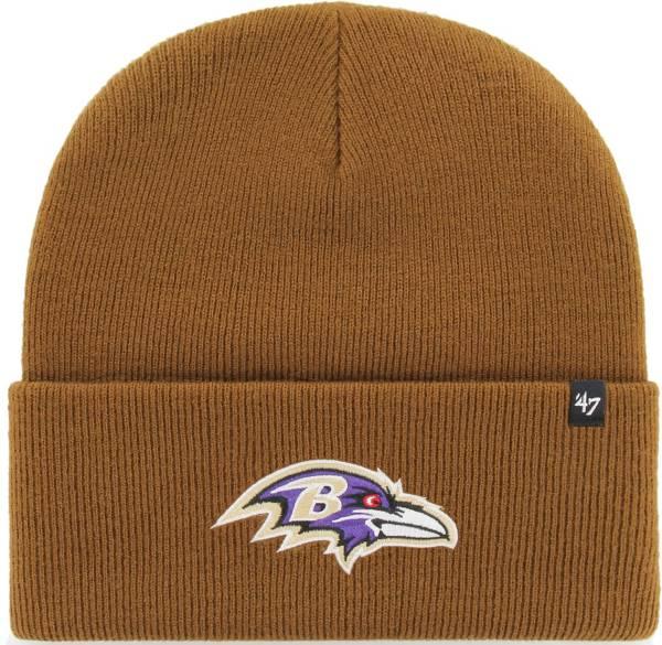 '47 Men's Baltimore Ravens Carhartt Brown Knit Hat product image