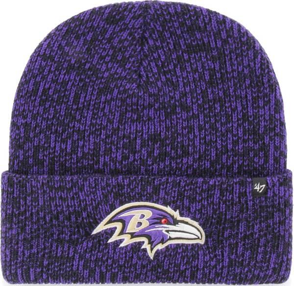 47 Men's Baltimore Ravens Brainfreeze Purple Cuffed Knit Hat product image