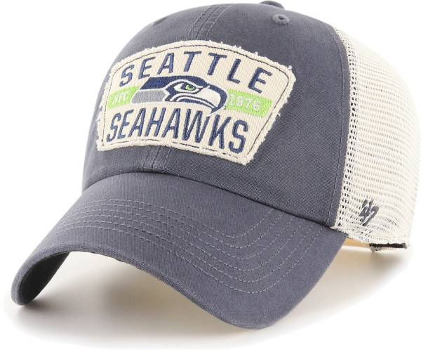 '47 Men's Seattle Seahawks Crawford Clean Up Adjustable Navy Hat product image