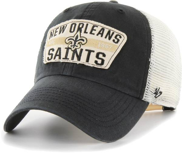 '47 Men's New Orleans Saints Crawford Clean Up Adjustable Black Hat product image