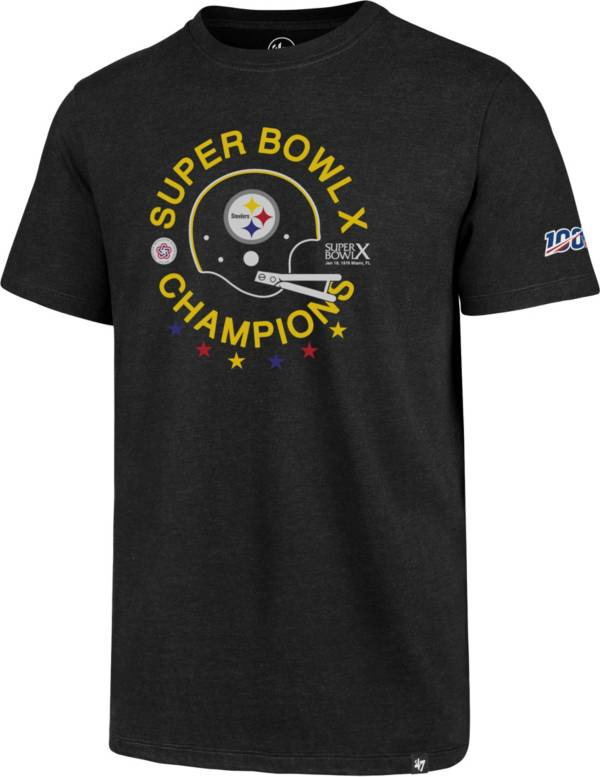 '47 Men's Pittsburgh Steelers 100th Club Throwback Black T-Shirt product image