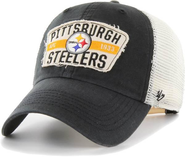 '47 Men's Pittsburgh Steelers Crawford Clean Up Adjustable Black Hat product image