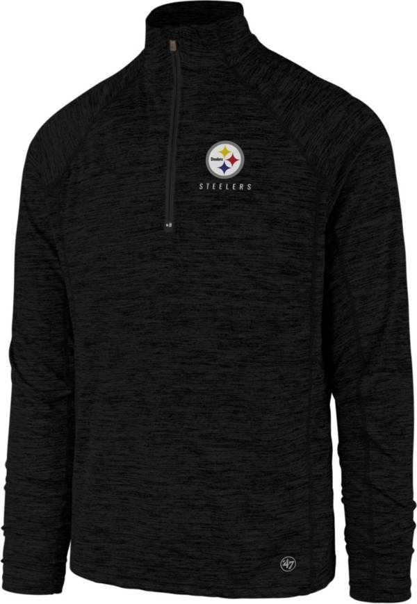 '47 Men's Pittsburgh Steelers Impact Black Quarter-Zip Pullover product image