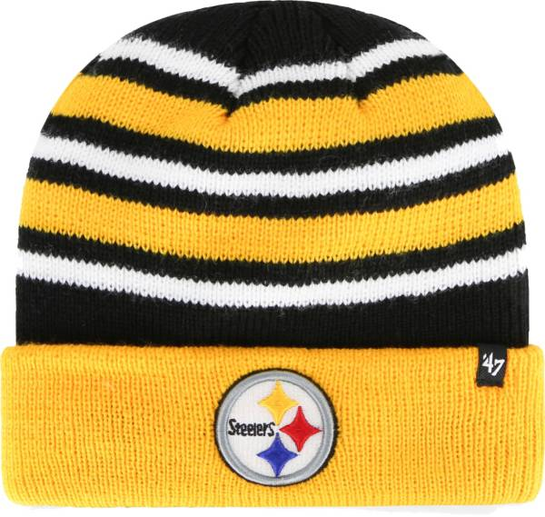 '47 Men's Pittsburgh Steelers Rotation Black Cuffed Knit Hat product image