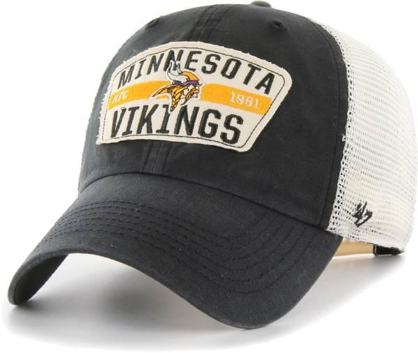 '47 Men's Minnesota Vikings Crawford Clean Up Adjustable Black Hat product image