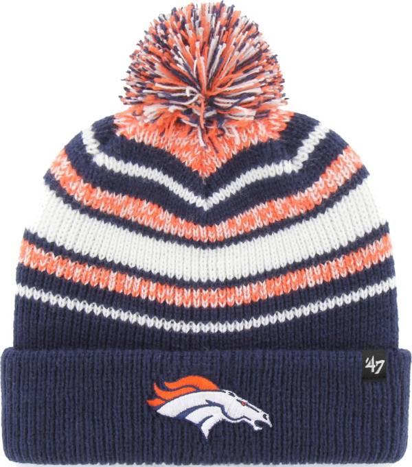 '47 Youth Denver Broncos Bubbler Navy Knit Hat product image