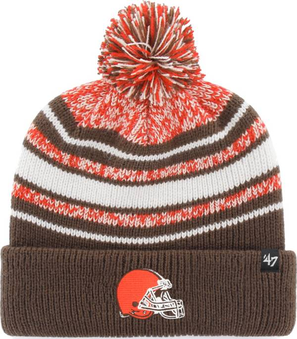 '47 Youth Cleveland Browns Bubbler Orange Knit Hat product image