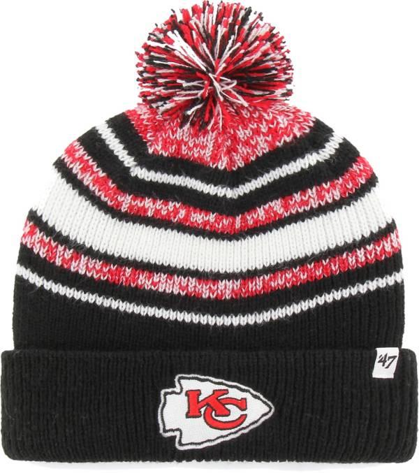 '47 Youth Kansas City Chiefs Bubbler Black Knit Hat product image