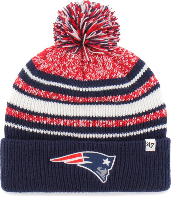 '47 Youth New England Patriots Bubbler Navy Knit Hat product image
