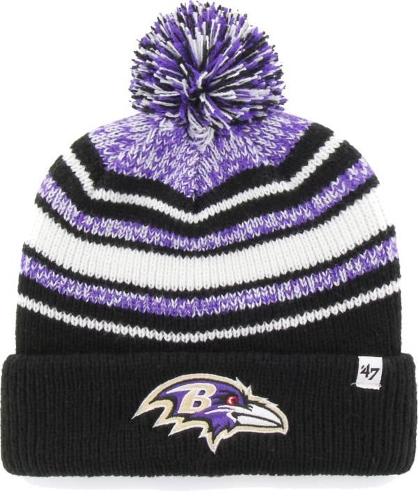 '47 Youth Baltimore Ravens Bubbler Black Knit Hat product image