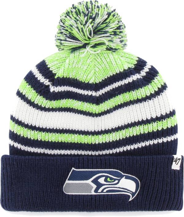 '47 Youth Seattle Seahawks Bubbler Navy Knit Hat product image