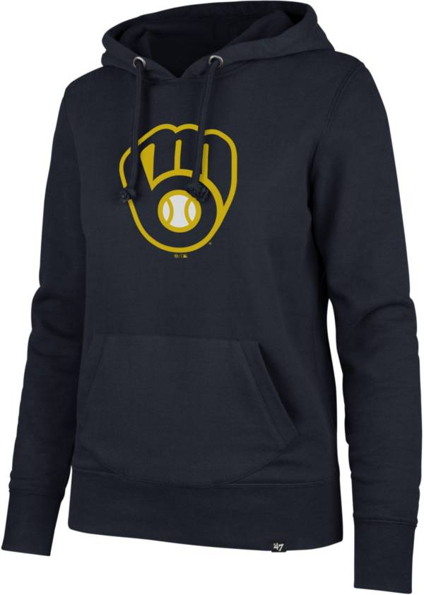 '47 Women's Milwaukee Brewers Navy Headline Pullover Hoodie product image