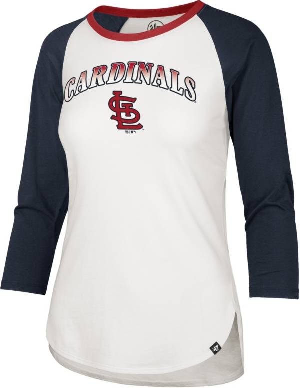 '47 Women's St. Louis Cardinals Red Splitter Raglan Three-Quarter Sleeve T-Shirt product image