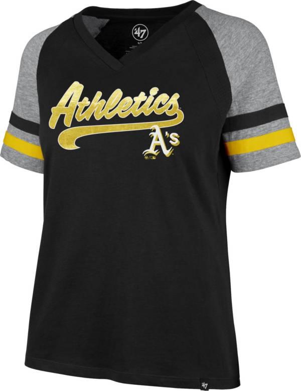 '47 Women's Oakland Athletics Black Pavilion V-Neck T-Shirt product image