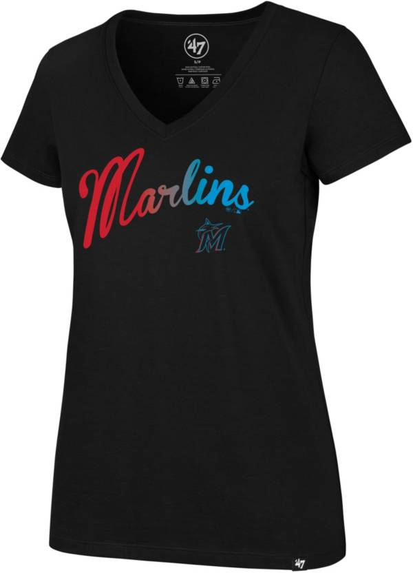 '47 Women's Miami Marlins Ultra Rival V-Neck T-Shirt product image
