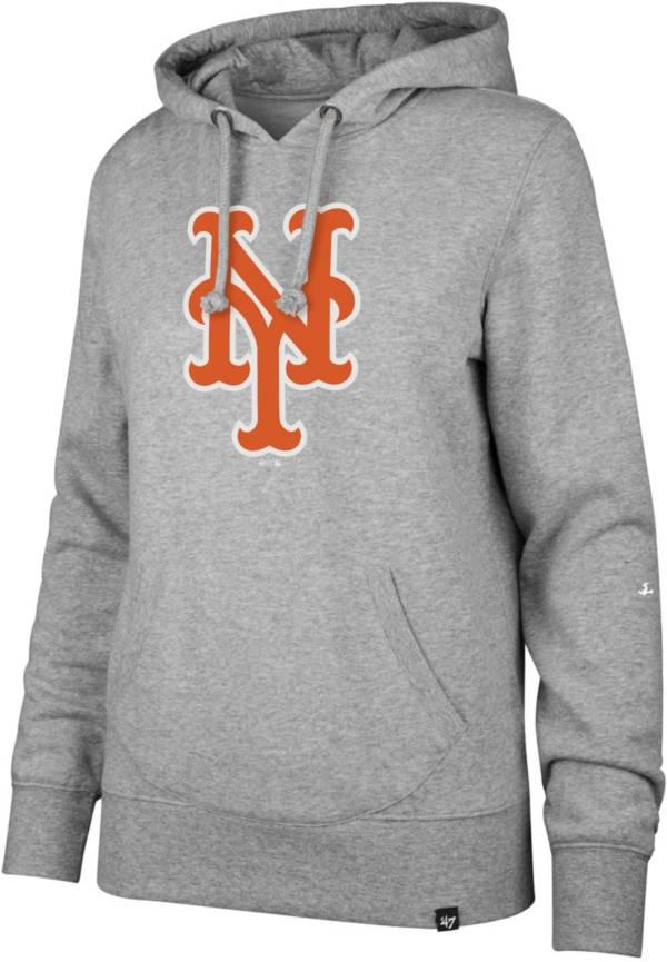 '47 Women's New York Mets Grey Headline Pullover Hoodie product image