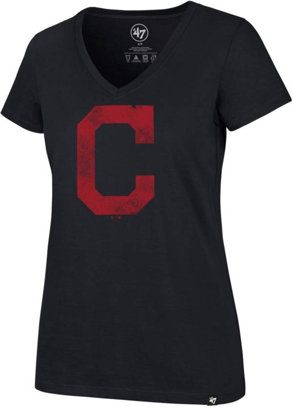 '47 Women's Cleveland Indians Ultra Rival V-Neck T-Shirt product image