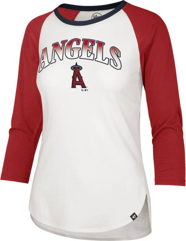 '47 Women's Los Angeles Angels Red Splitter Raglan Three-Quarter Sleeve T-Shirt product image