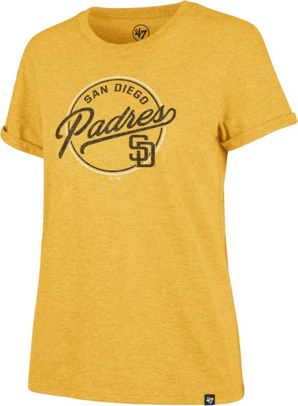 '47 Women's San Diego Padres Gold Match Hero T-Shirt product image