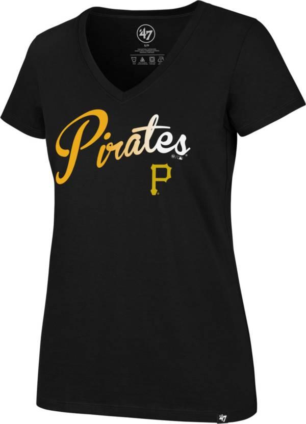 '47 Women's Pittsburgh Pirates Black Ultra Rival V-Neck T-Shirt product image