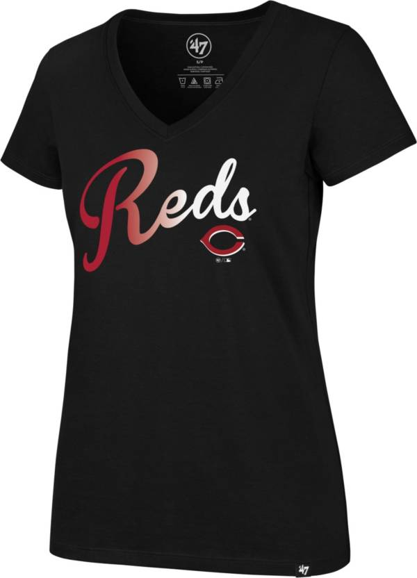 '47 Women's Cincinnati Reds Black Ultra Rival V-Neck T-Shirt product image