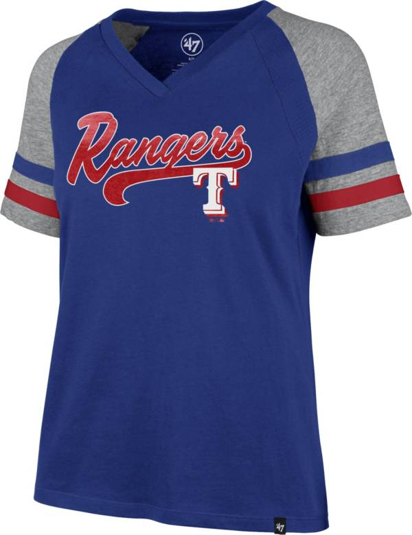 '47 Women's Texas Rangers Royal Pavilion V-Neck T-Shirt product image