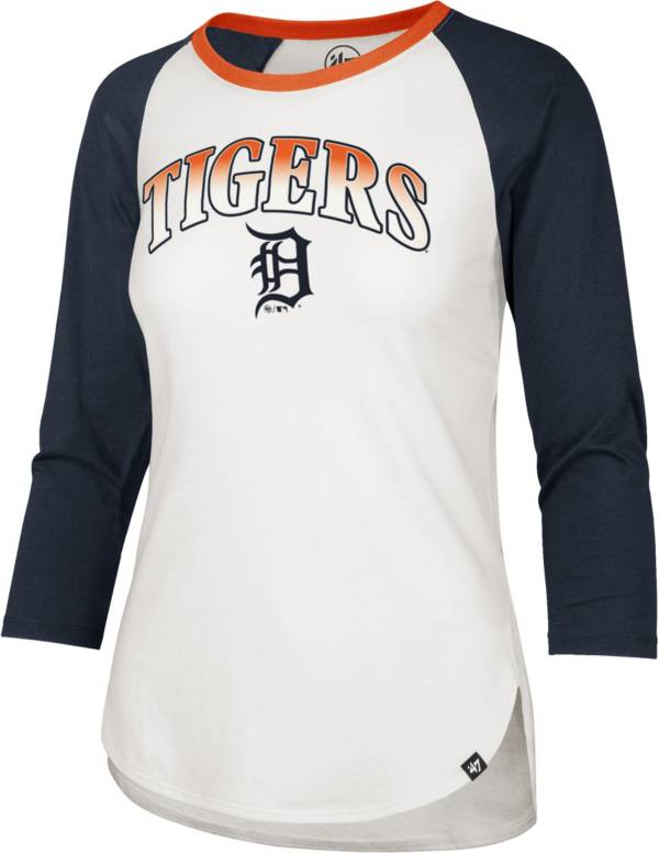 '47 Women's Detroit Tigers Navy Splitter Raglan Three-Quarter Sleeve T-Shirt product image