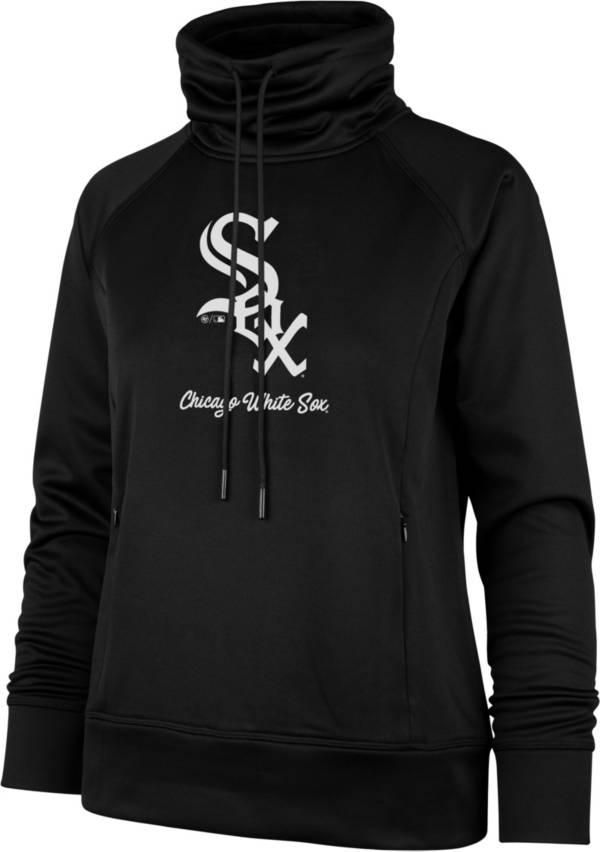 '47 Women's Chicago White Sox Black Tech Fleece Funnel Neck Pullover product image