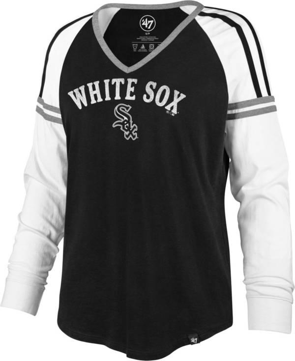 '47 Women's Chicago White Sox Black Prime Long Sleeve V-Neck Shirt product image
