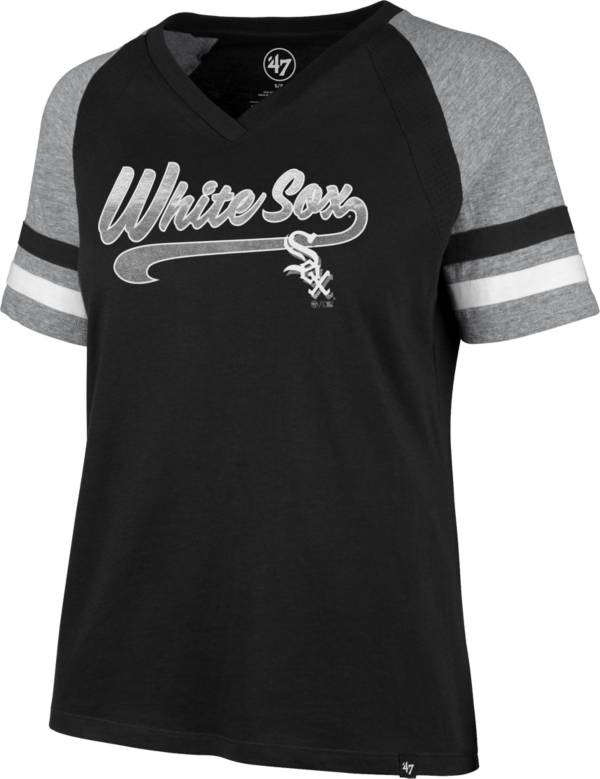 '47 Women's Chicago White Sox Black Pavilion V-Neck T-Shirt product image
