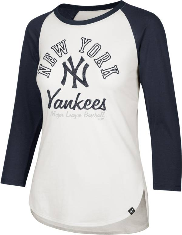 47 Women's New York Yankees Splitter Raglan Three-Quarter Sleeve T-Shirt product image