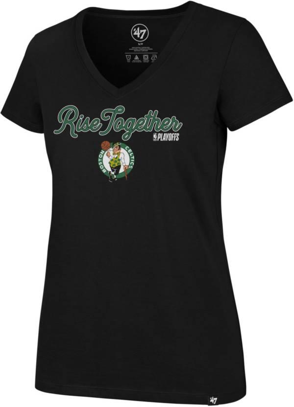 "'47 Women's Boston Celtics ""Rise Together"" V-Neck T-Shirt product image"