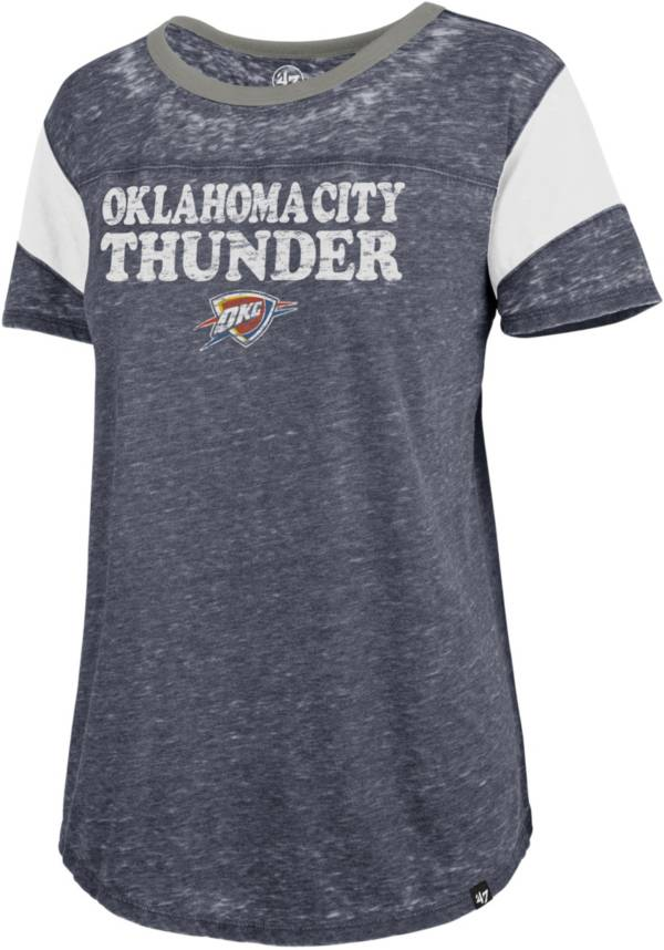 '47 Women's Oklahoma City Thunder Burnout Scoop Neck T-Shirt product image