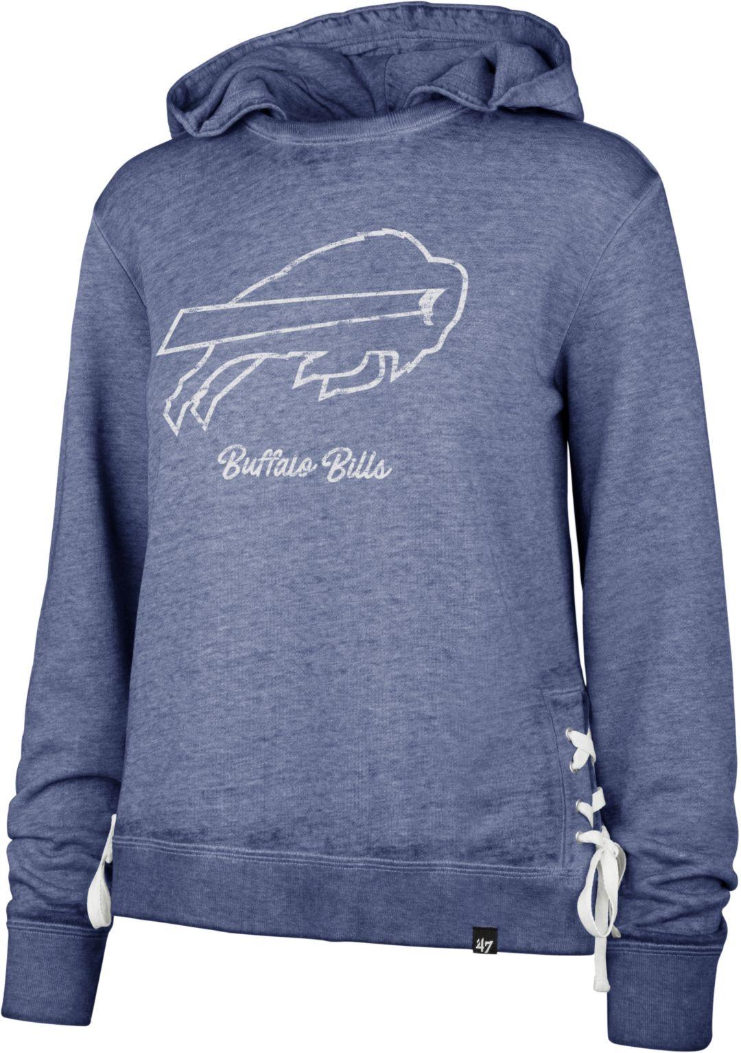 d8bce25b '47 Women's Buffalo Bills Side Lace Royal Hoodie