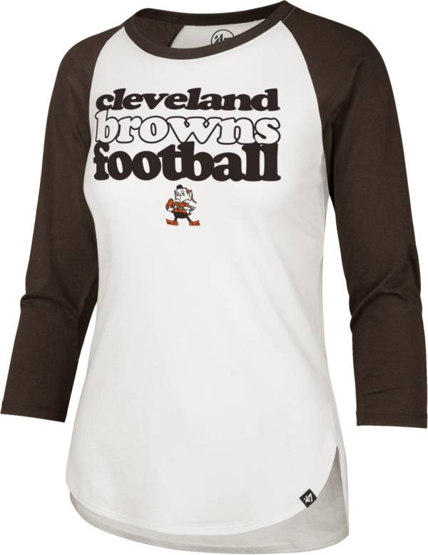 '47 Women's Cleveland Browns Retro Stock Throwback Raglan Shirt product image