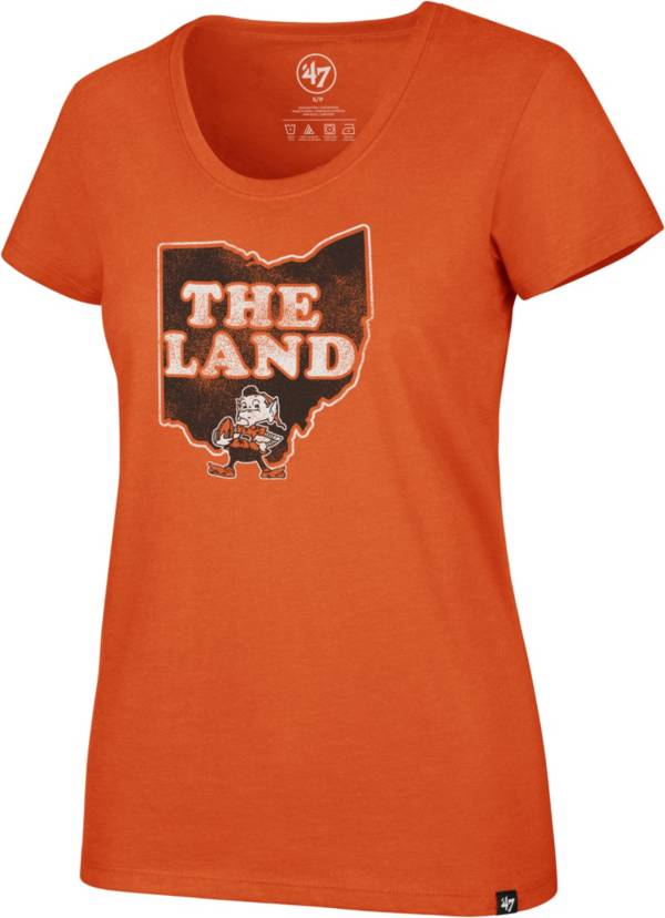 '47 Women's Cleveland Browns 'The Land' Orange Scoop T-Shirt product image